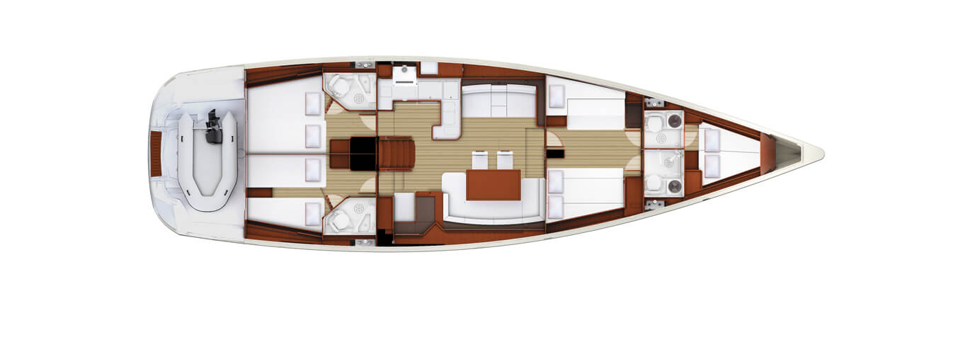 Oceanica Yacht Interior Layout